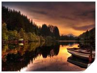 Loch Ard Reflections, Print