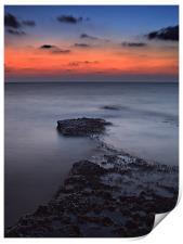 Rocky Shores Of Agios Georgios, Print