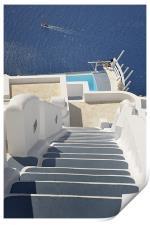 Santorini view, Print