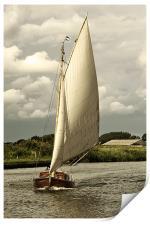 Sailing head on, Print