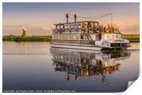 'Southern Comfort' Paddle Boat, Print