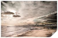 Lowestoft Central Beach, Print