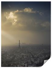 Eiffel Tower skyscape, Print