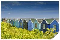 Beach huts in Springtime, Print