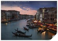 View from Rialto Bridge, Venice, Print