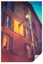 Streetlamp Shining, Print