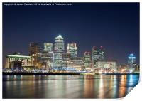 Canary Wharf at Night, Print