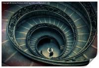 Vatican stairs, Print