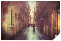 A Walk in Rome, Print