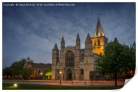 Rochester Cathedral at Dusk, Print