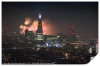 London City Fireworks 2017, Print