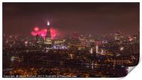 Firework Celebrations over the City, Print