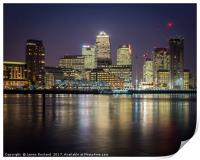 Canary Wharf by Night, Print