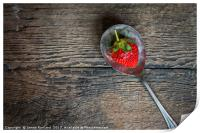 Strawberry on a Spoon, Print