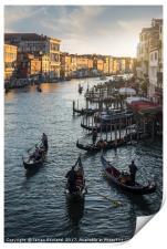 Venetian Gondolas, Print