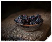 Blackberries in a Bowl, Print