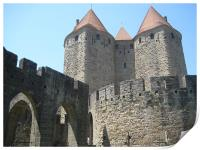 old town Carcassonne, Print