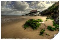 The Lifeboat Ramps at Tenby, Print