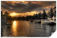 Amsterdam Sunset, Print