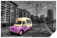 Ice Cream Van in Docklands, Print