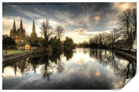 Reflections over Lichfield, Print