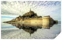 Mont St Michel, Print