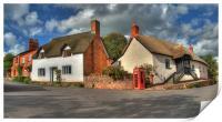 Thatched cottages of Halse, Print