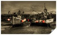Fishing Boats at Lyme Regis, Print