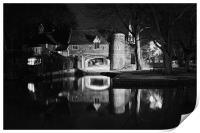 Pulls Ferry at Night, Print