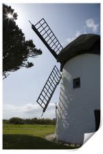 Tacumshane windmill, County Wexford, Ireland., Print