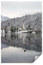 Alpine winter, Print