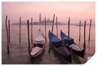 Venetian sunset, Print