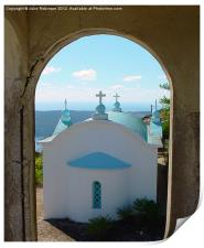Greek Church through the Arch, Print
