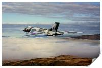 Vulcan XH558 over Snowdonia, Print