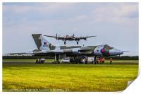 Vulcan XH558 and BBMF Lancaster, Print