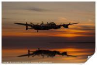 Lancaster Bomber Landfall, Print
