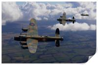 Lancaster Bombers return, Print