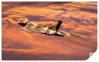 Vulcan XH558 at sunset, Print