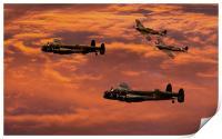Lancaster Sunset, Print