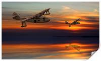 PBY Catalina sundown, Print