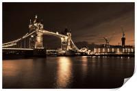 Tower Bridge Toned, Print