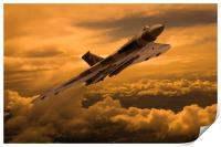 Vulcan XH558 sunset climb, Print
