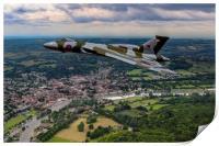 Vulcan XH558 over Henley, Print