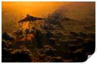 Vulcan bomber sunset, Print