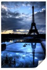 An Eiffel Reflection, Print