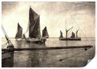 Maldon Barge Match 2010 vintage effect, Print