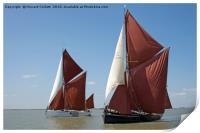 Thames barges Edith May and Niagara, Print