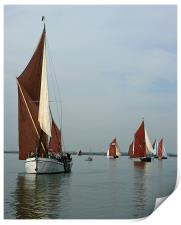Barge Match, Print