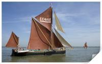Thames Barge Edme, Print