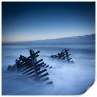 Caistor beach defences, Print
